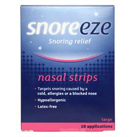 Snoreeze Snoring Relief Nasal Strips Large - 10 Applications