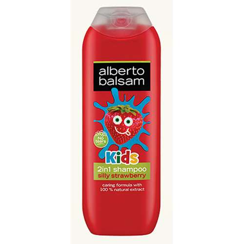 Image of Alberto Balsam Kids 2 in 1 Silly Strawberry Shampoo 250ml