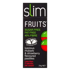 Slim Fruits Rhubarb and Strawberry Flavoured Pastilles 24g
