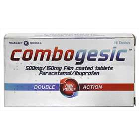 Combogesic Double Action Pain Relief - 16 Tablets