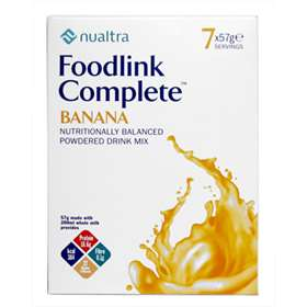 Nualtra Foodlink Complete Banana Powdered Drink Mix 7 Servings
