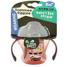 Tommee-Tippee Weaning Straw Cup 6m+ Pink