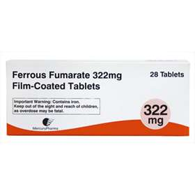 Ferrous Fumerate 322mg film-Coated 28 Tablets