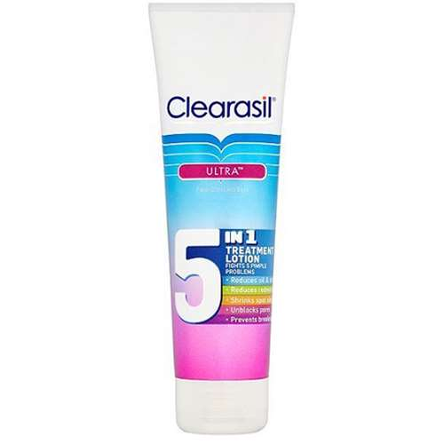 Image of Clearasil Ultra Face, Chest and Back 5 in 1 Treatment Lotion 100ml