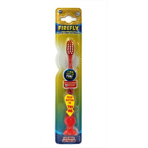 Firefly Light Up Timer Toothbrush Red