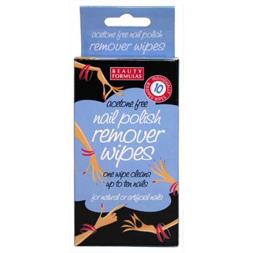Image of beauty formulas Nail polish remover wipes 10