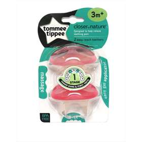 Tommee Tippee Easy Reach Teethers 3M+ Pink 2