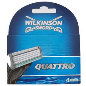 Wilkinson Sword Quattro Replacement Blades - 4 Cartridges