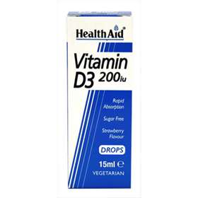 Health Aid Vitamin D3 200iu - 15ml Drops