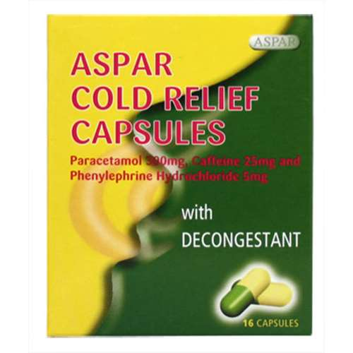 Image of Aspar Cold Relief Capsules With Decongestant - 16 capsules