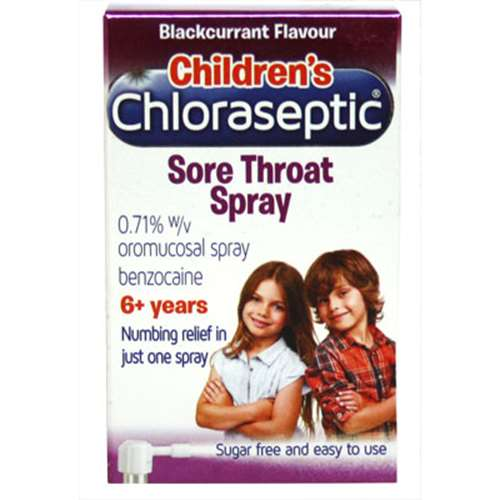 Image of Childrens Chloraseptic Sore Throat Spray - 6+ years - Blackcurrant Flavour
