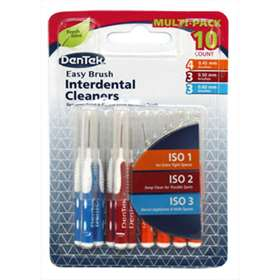 Dentek Easy Brush Interdental Cleaners Multi-pack - 10 Brushes.