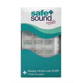 Safe and Sound Weekly Pill Box with Braille