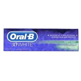 Oral-B 3D White Toothpaste- Soft Mint 75ml