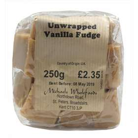 Michaels Wholefoods Unwrapped Vanilla Fudge - 250g