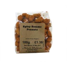 Michaels Wholefoods Spicy Sesame Peanuts