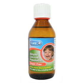 Care Paediatric Sugar Free Simple Linctus 200ml