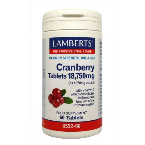 Image of Lamberts Cranberry 18,750mg - 60 Tablets