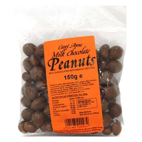 Image of Carol Anne Milk Chocolate Peanuts - 150g