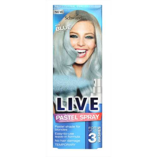 Image of Schwarzkopf Live Pastel Temporary-Spray Icy Blue 125ml