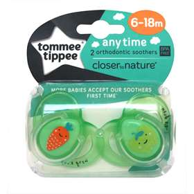 Tommee Tippee Anytime Soothers Green (6-18Month)
