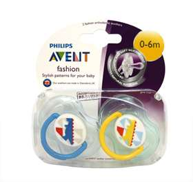 Avent Fashion Soothers 2 Pack 0-6m