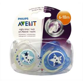 Avent Night Time Soothers 2 Pack 6-18m
