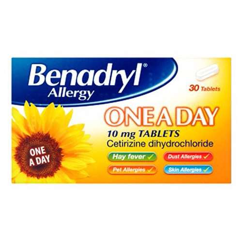 Image of Benadryl Allergy One a Day 10mg Tablets 30