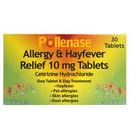 Pollenase Allergy & Hayfever Relief 10mg Tablets 30