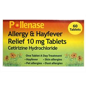 Pollenase Allergy & Hayfever Relief 10mg Tablets 60