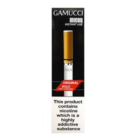 Gamucci Micro Instant Use Disposable Cigarette 2% Nicotine