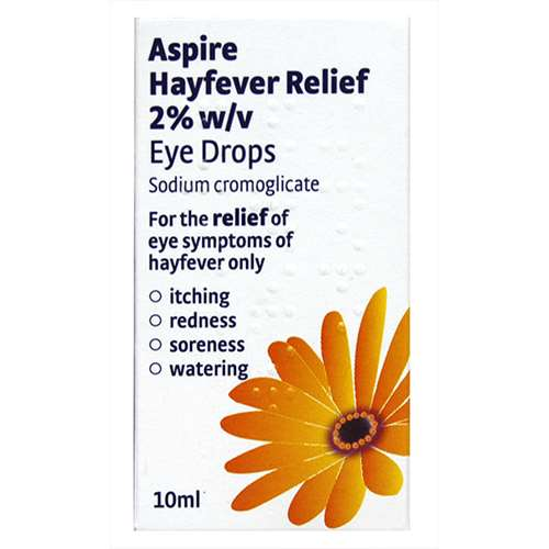Image of Aspire Hayfever Relief Eye Drops (10ml)