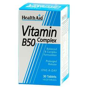 Health Aid Vitamin B50 Complex 30 Tables