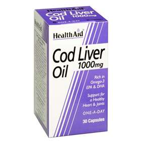Health Aid Cod Liver Oil 1000mg 60 capsules