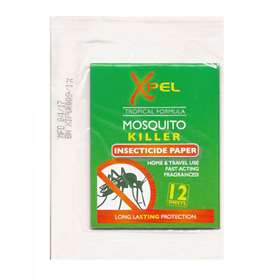 Xpel Mosquito Killer Insecticide Paper 12 sheets