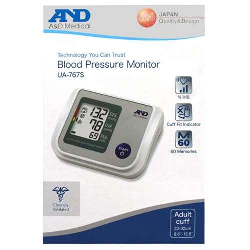 Image of A&D Blood Pressure Monitor UA-767S