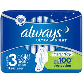 Always Ultra Night Sanitary Towels with Wings 10