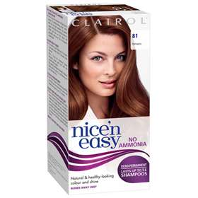 Clairol Nice 'n Easy Non-Permanent Hair Colour Up To 24 Washes Hair Colour 81 Mahogany