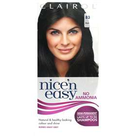 Clairol Nice 'n Easy Non-Permanent Hair Colour Up To 24 Washes 83 Black