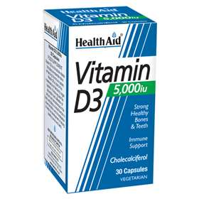 Health Aid Vitamin D3 5,000iu 30 Vegicaps