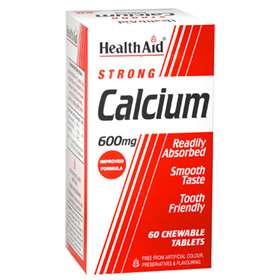 Health Aid Strong Calcium 600mg 60 Chewable Tables