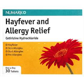 Numark Hayfever and Allergy Relief 30 Tablets
