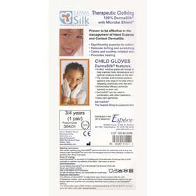 Derma Silk Therapeutic Child Gloves