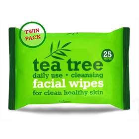 Xpel Tea Tree Facial Wipes Twin Pack
