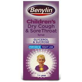 Benylin Children's Dry Cough & Sore Throat Syrup Glycerol &  Sucrose 125ml