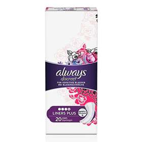 Always Discreet Incontinence Liners Plus 20