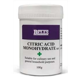 Bell's Citric Acid Monohydrate B.P. 100g