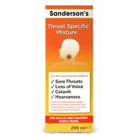 Sanderson's Throat Specific Mixture 200ml