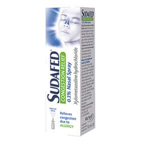 Sudafed Allergy Congestion Relief Nasal Spray 10ml