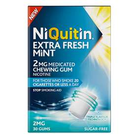 Niquitin Extra Fresh Mint Gum 2mg 100 Pieces